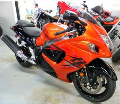 2008 SUZUKI GSXR1300 HAYABUSA with display lights and orange and black paint color option