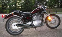 2008 Yamaha VStar Virago 250 burgundy red wine