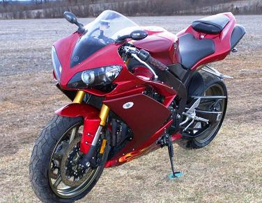 Dark Candy Apple Red Paint  2008 Yamaha YZF R1 Motorcycle (not the one for sale in this ad)
