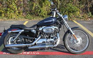 2009 Harley davidson Sportster XL1200, XL1200C, CUSTOM BLUE
