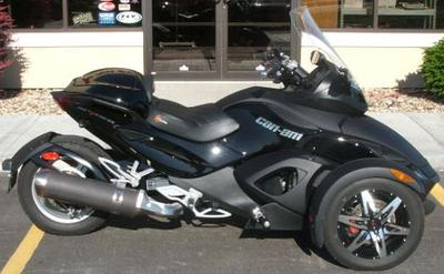 2009 Can-Am Spyder Roadster Black Phantom Edition (this photo is for example only; please contact seller for pics of the actual motorcycle for sale in this classified)