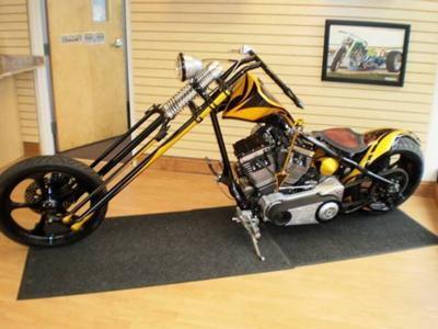 Last Laugh 2009 Design Worx  Custom Chopper with Yellow and Black OCC  Paint Job by Nubs