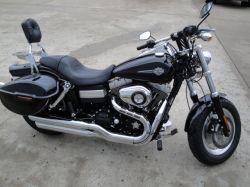 Vivid Black 2009 Harley Davidson Fat Bob