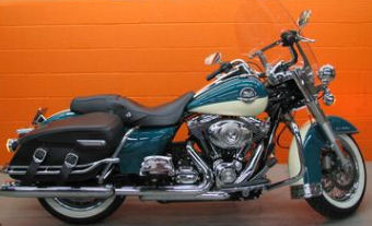 2009 Harley Davidson FLHRC Road King Classic w two-tone deep turquoise blue and antique white paint color option (example only Call for pics)