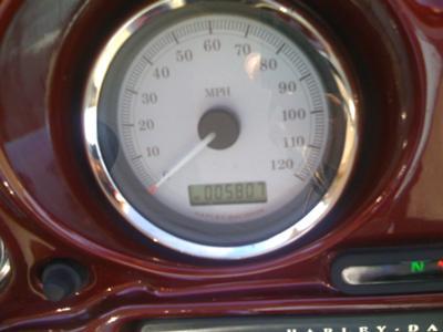 Original Miles on 2009 Harley Davidson Street Glide Odometer