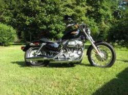 Black 2009 Harley Davidson 883 Sportster Low 5 Speed