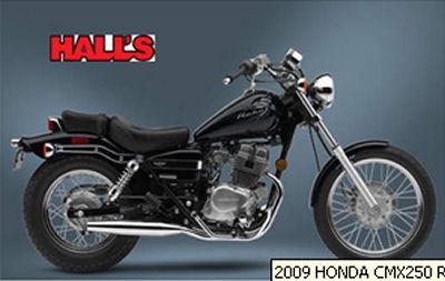 2009 HONDA CMX250 REBEL Motorcycle