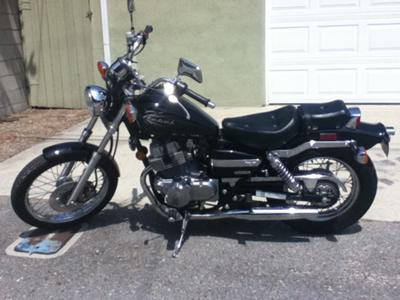 2009 Honda Rebel  (this photo is for example only; please contact seller for pics of the actual motorcycle for sale in this classified)