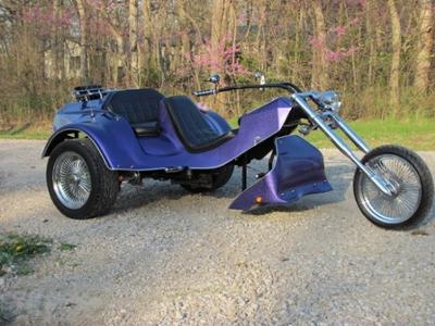 2009 Purple Metallic VW Powered Chopper Volkswagen Trike