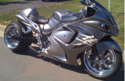 2009 suzuki hayabusa silver 330 osd wide tire kit by roaring toyz