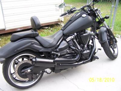 Flat Black Paint 2009 Yamaha Raider