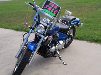 2009 YAMAHA V STAR CUSTOM (NOT the bike for sale in this ad)