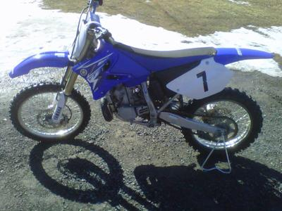 Dirt Bikes Yamaha For Sale Blue and White Yamaha YZ