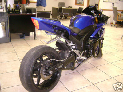 Royal Blue 2009 Yamaha YZF R1 for Sale Rear Fender, Wheel and Exhaust System