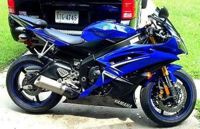 Royal Blue 2009 Yamaha YZF R6