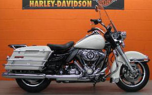 2010 Harley Davidson FLHP Police Road King law enforcement motorcycle with Birch White paint color (example only; please contact seller for pics)