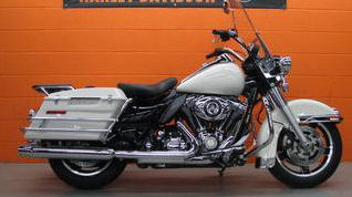 2010 Harley Davidson FLHP Police Road King with the Birch White paint color option