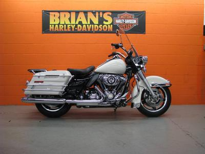 Birch White 2010 Harley Davidson FLHP Police Edition Road King