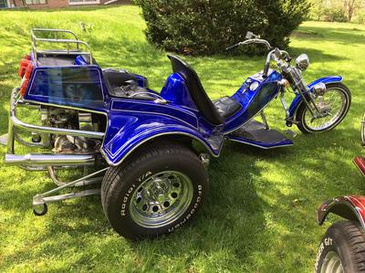 Blue Metal Flake Paint 2010 VW Custom Trike Motorcycle