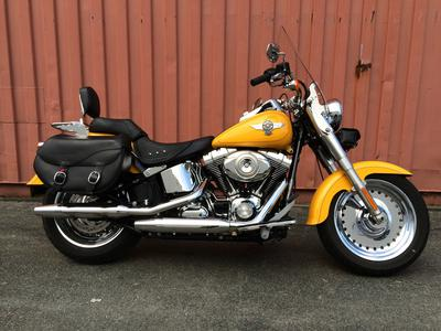 2011 Harley Davidson Softail Fatboy with Bright Yellow Paint Color with Chrome