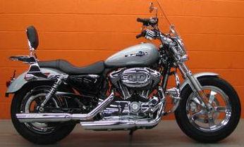2011 Harley Davidson XL1200C 1200 Custom w brilliant silver paint color option