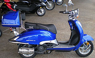 Blue 2011 Heritage 150 Scooter