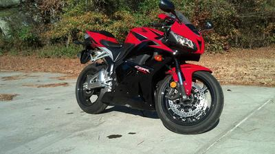 2011 Honda CBR CBR600RR with Red Paint Color Option (this photo is for example only; please contact seller for pics of the actual motorcycle for sale in this classified)