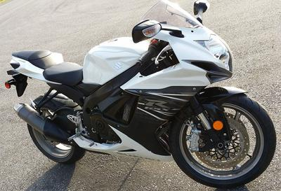 2011 Suzuki GSX-R 600 w White Paint Color Option