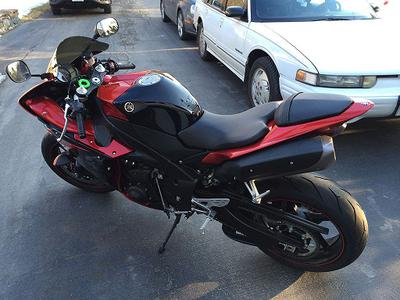 Custom 2011 Yamaha YZF-R1 motorcycle with lots of mods (this photo is for example only; please contact seller for pics of the actual bike for sale in this classified)