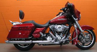 2012 Harley Davidson FLHX Street Glide with an Ember Red Sunglo paint color