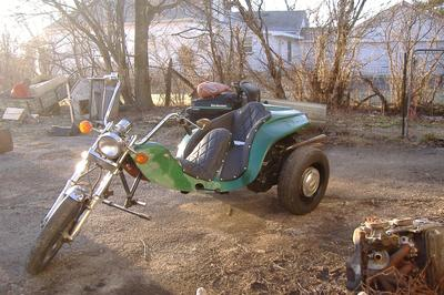 2012 VW Trike 1600cc engine, 4 speed transmission and custom motorcycle paint job with spider graphics fuel tank and rear end artwork (this photo is for example only; please contact seller for pics of the actual motorcycle for sale in this classified)