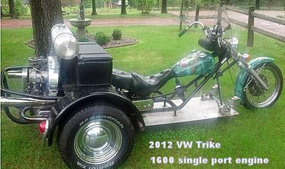 2012 Custom Built VW Trike Motorcycle