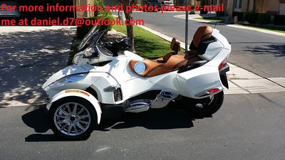 White 2013 Can Am Spyder RT Limited SE5