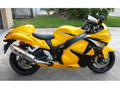 2013 Suzuki Hayabusa LIMITED EDITION with black and yellow paint color scheme combination