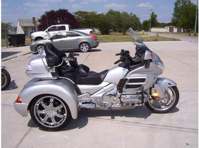 2007 Honda GL1800 Goldwing Trike (this photo is for example only; please contact seller for pics of the actual Goldwing trike motorcycle for sale in this classified)