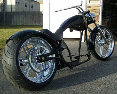 2008 Big Dog Pitbull Pro Street Chopper rolling chassis w a 280 REAR TIRE, powdercoated frame and tins