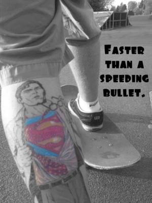 Superhero tattoos - Superman Tattoo Design