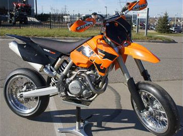 2005 450 SMR Super Motard Dirt Bike (this photo is for example only; please contact seller for pics of the actual dirt bike motorcycle  for sale in this classified)