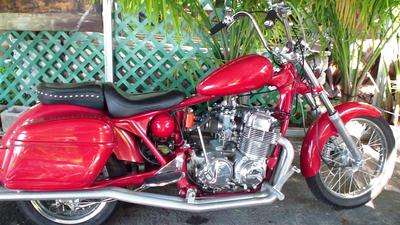 1977 Honda Custom Bagger CB 750k w red metal flake paint