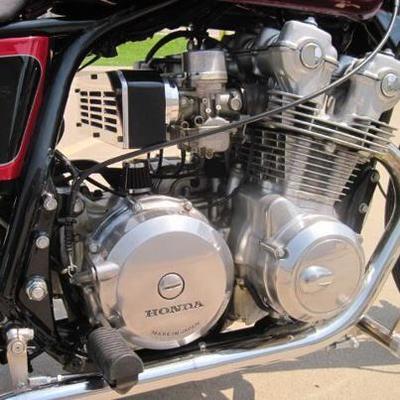 Custom 1980 Honda 750 Bobber motorcycle motor
