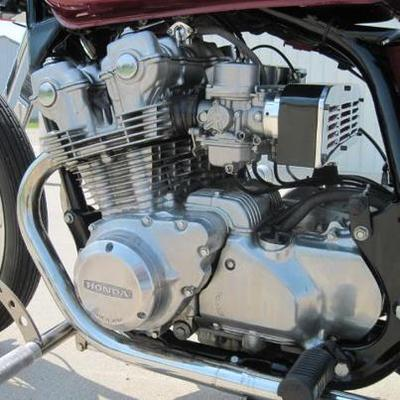 Custom 1980 Honda 750 Bobber motorcycle engine