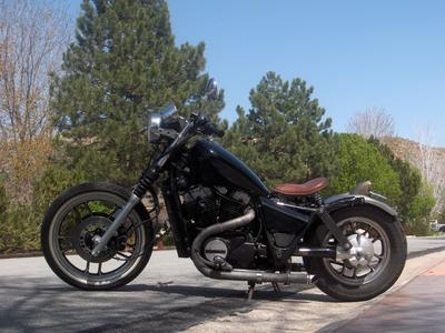 Custom 1984 Honda Shadow Rat Bobber The Motorcycle Harleys Scared Of