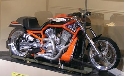 Custom Orange and Black 2005 VRXSE V-ROD Drag Bike Motorcycle