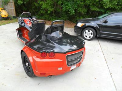 2011 VW Trike w 1600cc Volkswagen Beetle Motor and Custom Fiberglass Body