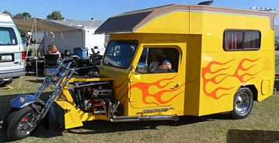 Custom Built Motorcycle Camper Trike