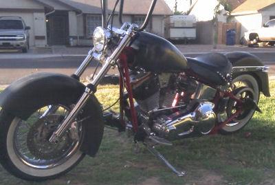 2010 Custom Harley Davidson Bobber Desert Thunder Cycle