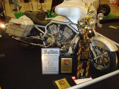 Award Winning Custom Harley V Rod w over $90,000 Invested Memphis Belle Custom Motorcycle Paint Job and MORE