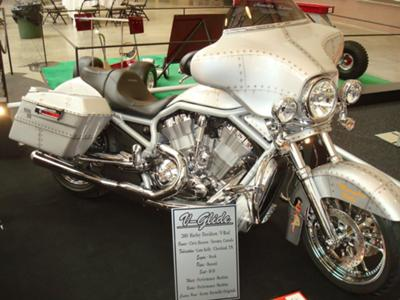 Trophy Winning Custom Harley V Rod w over $90,000 Invested Memphis Belle Custom Motorcycle Paint Job and MORE