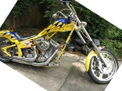 2003 Custom Hot Rod Chopper motorcycle w S&S 113 Super Sport Sidewinder and a 250 Rear Tire