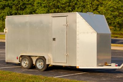 Custom built Aluminum diamond plate trike motorcycle trailer